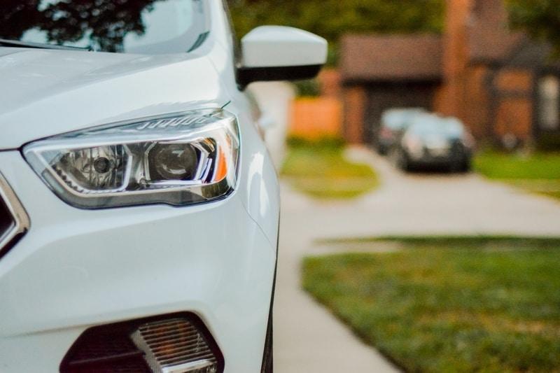 car driveway white
